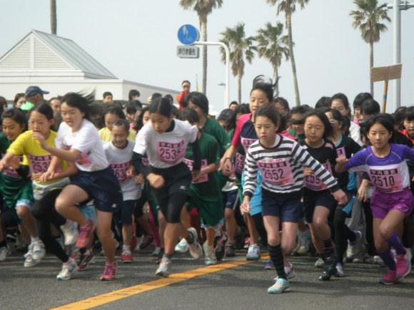 「北下浦ふるさとマラソン大会」女子クラス