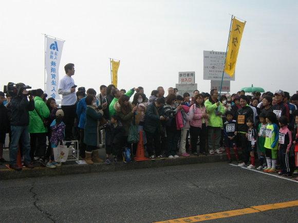 「北下浦ふるさとマラソン大会」スターター吉田横須賀市長